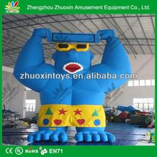 Hot newly promotional kids house shape commercial pvc inflatable cartoon 2m