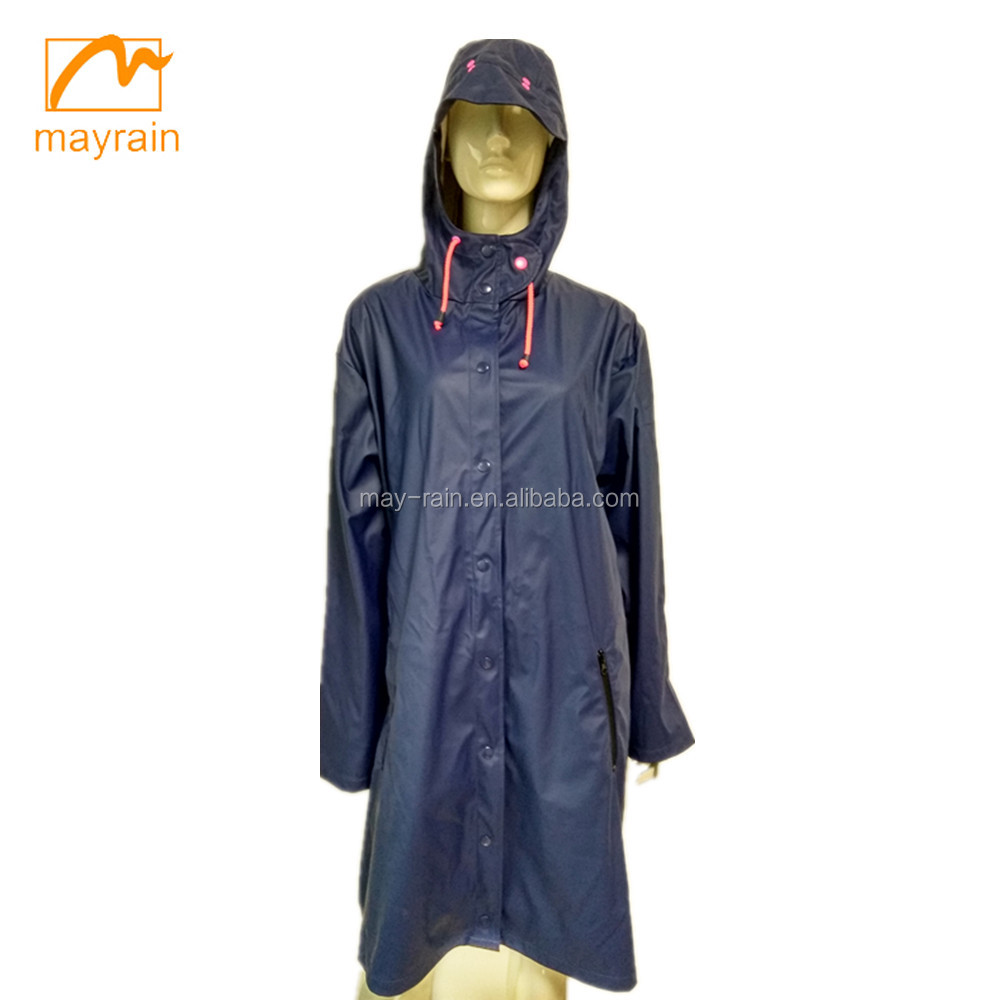 designs custom adult lady's pu raincoat leather jackets for women