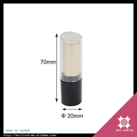Best selling products black clear golden plastic designer lipstick tubes