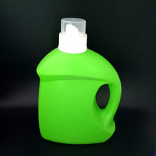 Detergent bottles or containers. Cleaning supplies isolated on black background