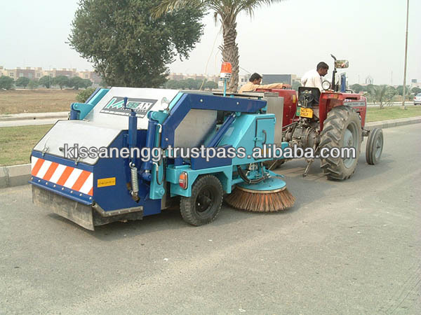 Tractor towed Mechanical Street Sweeper