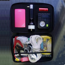 new design roadside car emergency tool kit with air compressor
