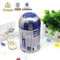 Hot sale round metal tinplate tin case with lid
