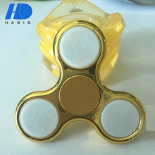 Hot Sale Fashion Anti Stress Wind Hand Spinner Toys High Quality Custom ABS Fidget Spinner With LED Light