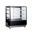 650L High Quality Commercial Open Glass Door Cake Bread Stand Display Refrigerator Drink and Beverage Freezer Fridge
