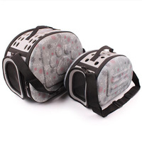 Luxury pet travel carrier bag EVA foldable portable Dog Cat Cage