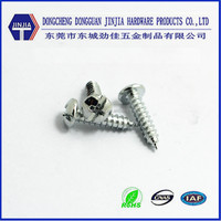ASME #4X1/2'' zinc coating screw pan phillips head self tapping screws