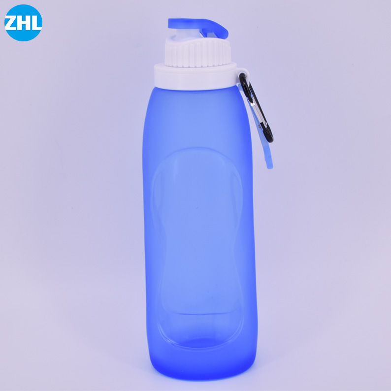 Wholesale Leak Proof Valve Sports Camping Hiking Bpa Free Silicone Foldable Water Bottle