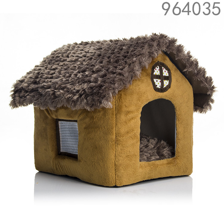 SKL Luxury High-end Double Pet House/brown Dog Room Cat Bed 40X 35 X 35 Cm