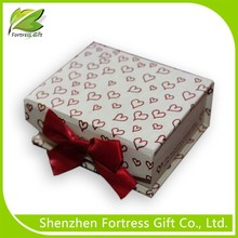 Jewelry Packing Box Made of Fancy Paper box and bowknot paper gift bos for jewelry