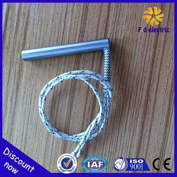 heating tube with radiator finned cartridge heater with flange