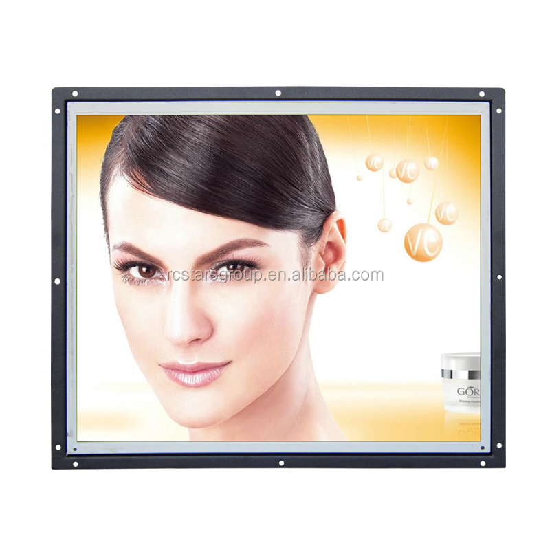 Metal Case 4:3 Square Display VGA DVI HDMI Input 12 inches lcd panel tv 12 volts industrial monitor