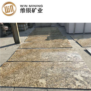 Gold yellow standard granite slab size in polishing surface for kitchen counter tops