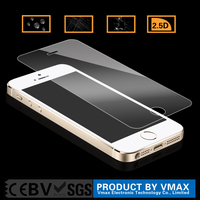 0.2mm Thickness Ultra Smooth Mobile Phone Tempered Glass screen protector retail for iPhone 5 5c 5s