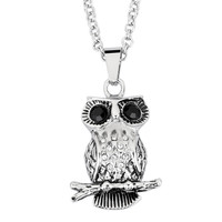 hot products 2015 stainless steel personalized animal design shape pendant with CZ diamonds and black eyes