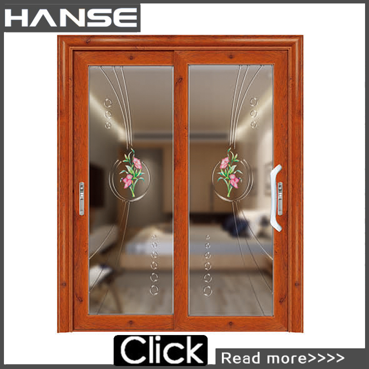HS-8008 entrance interior with glass inserts door with flower designs