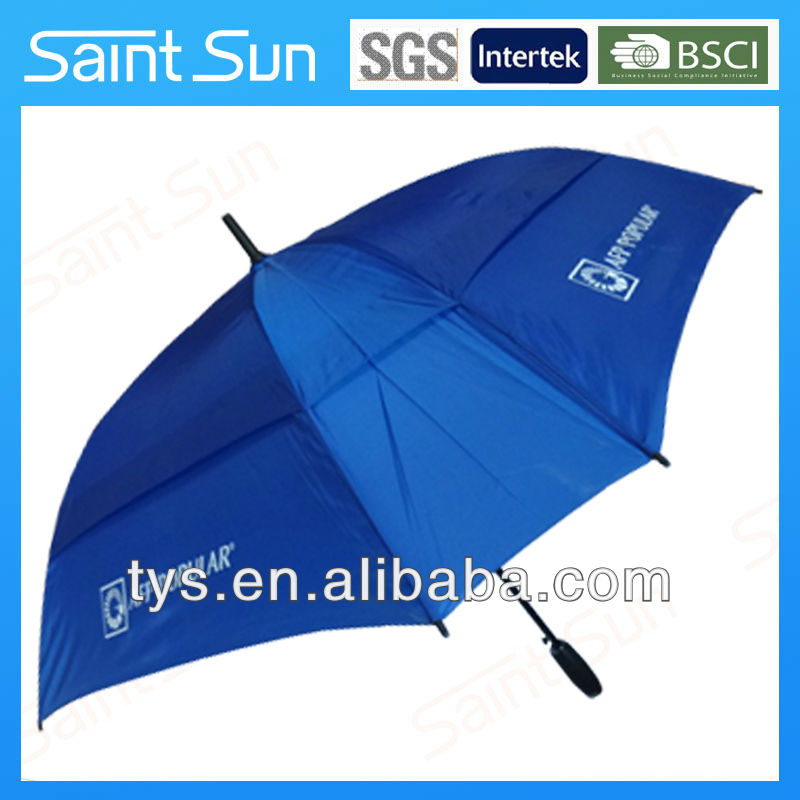 promotional square vent umbrella with gel handle