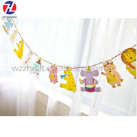 Birthday party house decoration banner flag