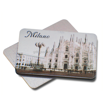 Best Price Italy Souvenirs Foil / Tinplate Made Milano / Roma Landmark Magnets Cheap Fridge Magnet for Fridge