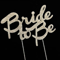 letter bride to be strass cake topper for wedding decoration