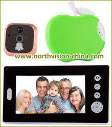 Family use 2.4G wireless intercom systems, 7 Inch touch screen, motion detection