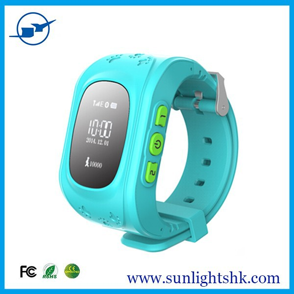 Kids Smart Mobile Phone Watch Gps Location Tracking SOS Button Alram, 2G Phone Call Children Wearable Smart Watch for Anti Lost
