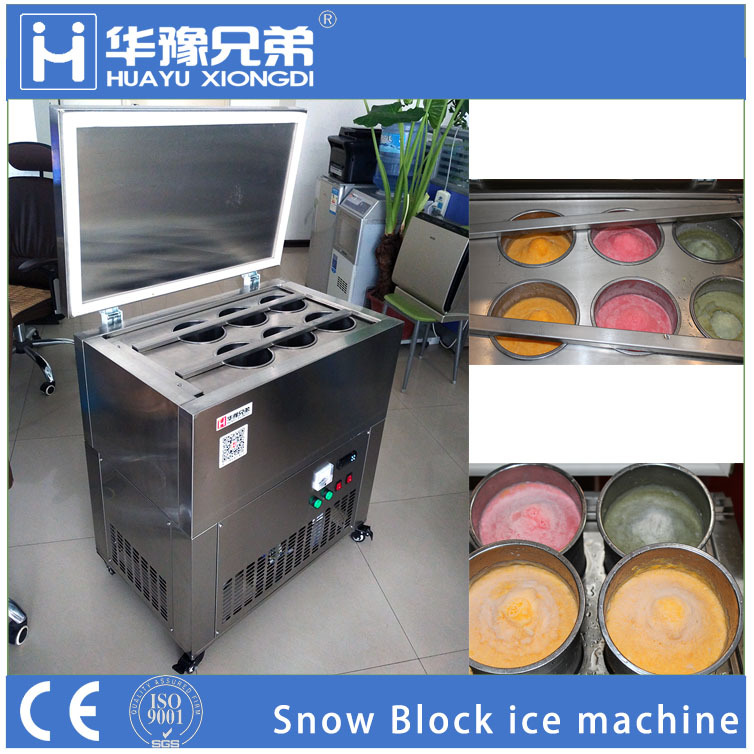 Huayu Brother HY-6 6pcs snow cone maker shaved snow ice machine