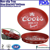2014 Hot round melamine serving tray with colored design