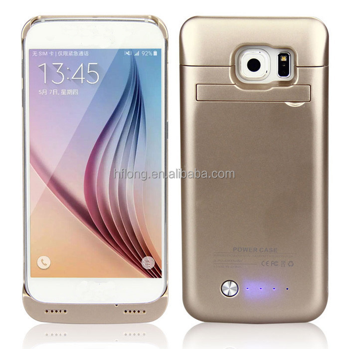 NEW COLORS !!! 4200mAh external rechargeable backup power charger gold golden battery case for sumsung galaxy s6