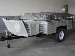 big tent better trailer BT-CP7,rear folding soft floor camper trailer
