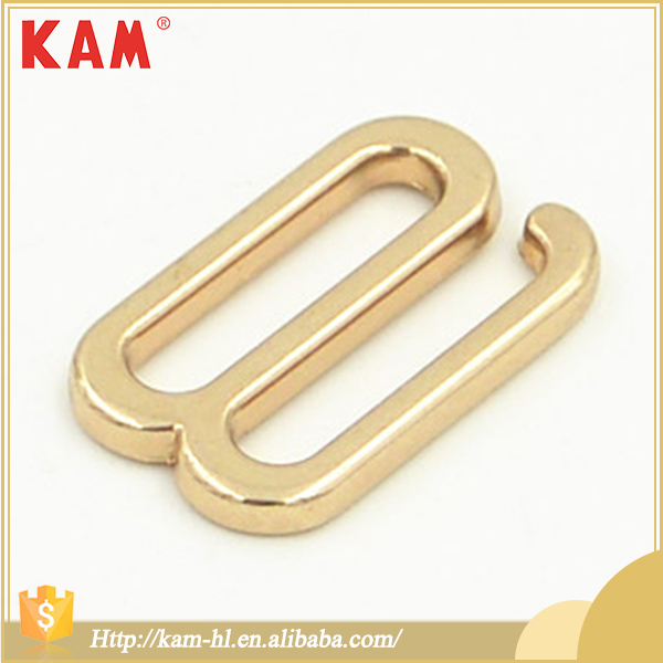 Wholesale good quality lemon gold zinc alloy underwear bra buckle strap