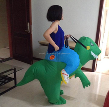 one size fit all adult available green inflatable dinosaur costume suit