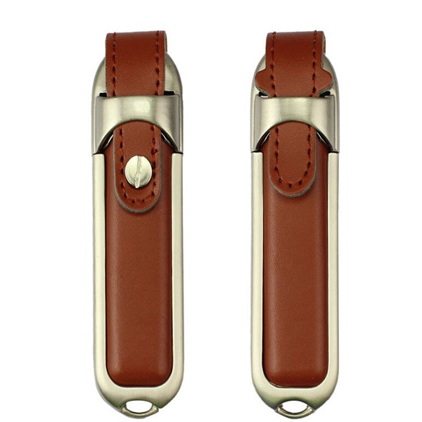 12 years newest design fashion leather usb flash drive