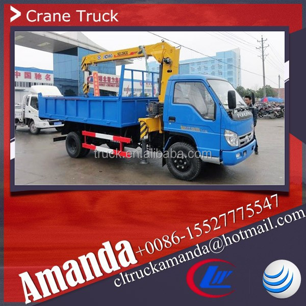 Foton Forland 4*2 basket crane, 1ton truck mounted crane, 103hp China truck mounted crane manufacturer