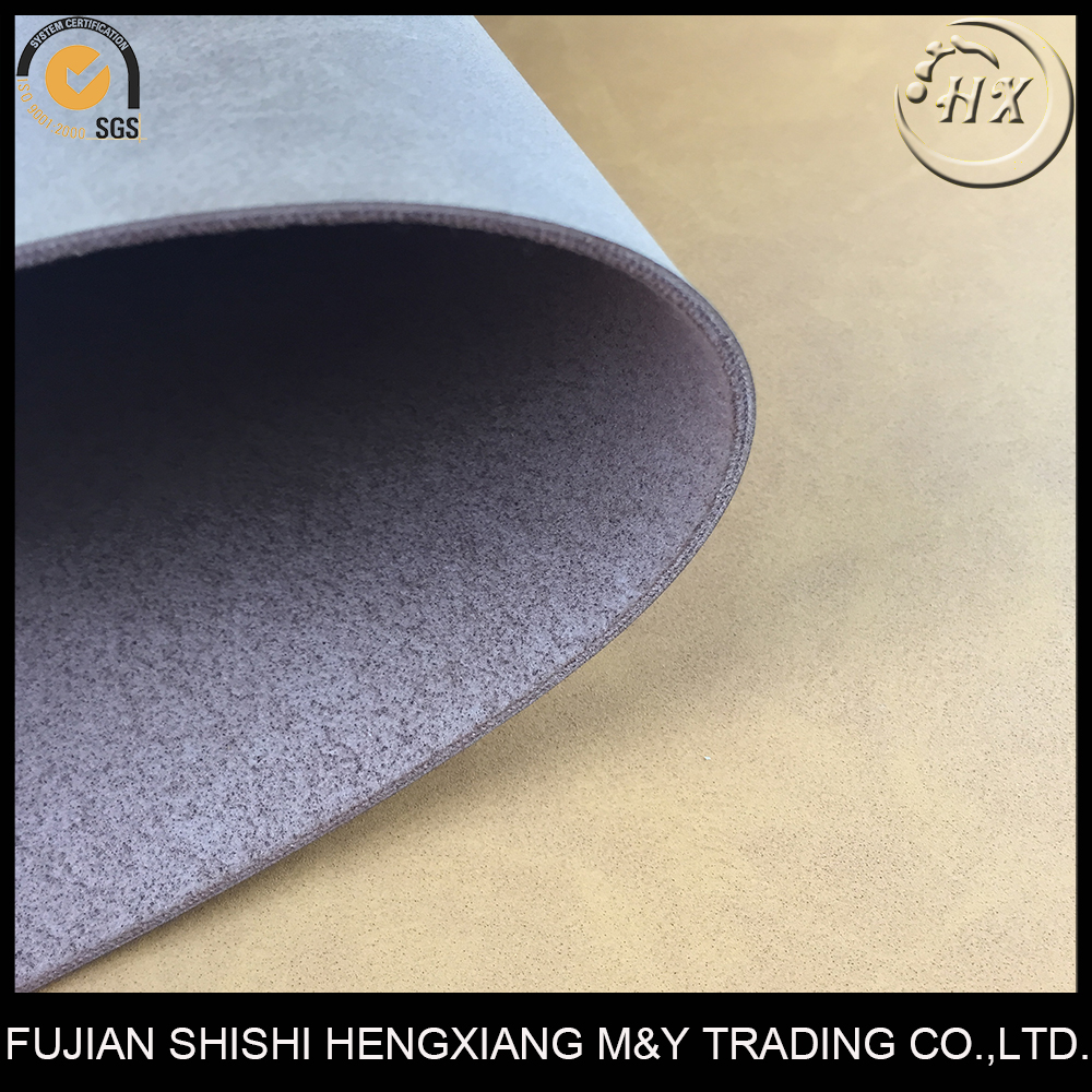 2.0MM Nonwoven Backing Hard PU Synthetic Leather For Travel Bag Making