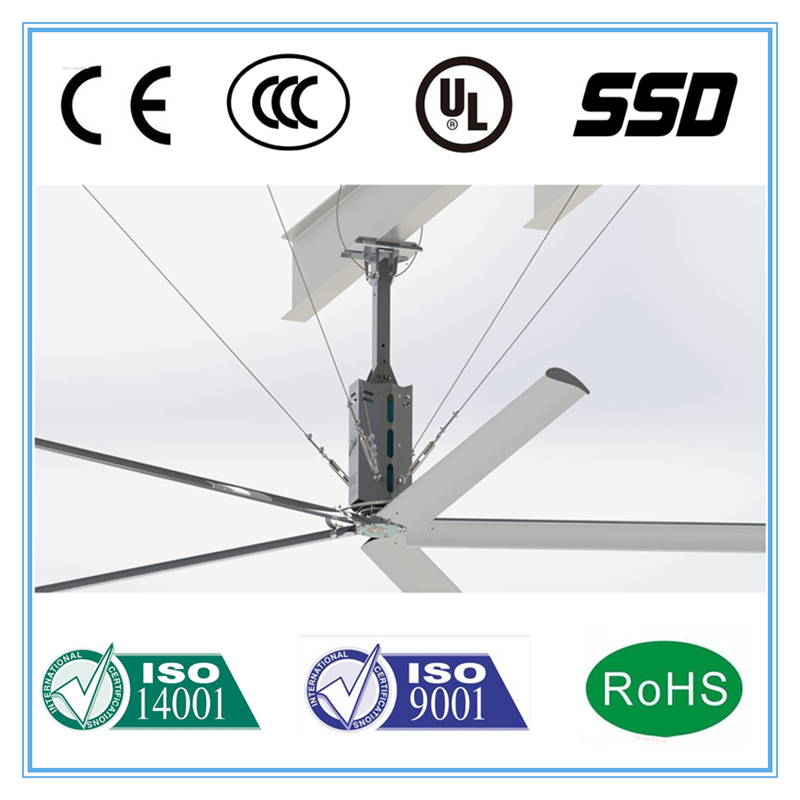 2017 Industrial Type new technology HVLS ceiling fan remote control
