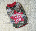 summer dog clothes camo dog T-shirt wholesale