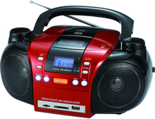 AM/FM radio portable cd/dvd boombox player with LCD display SD card reader