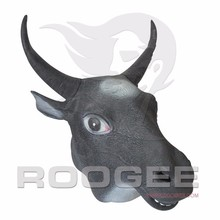 Funny Halloween Full Head Animal Bull Head Mask Masquerade Party Cosplay Halloween Latex Mask
