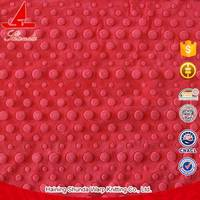 Haining factory Crystal velvet 1mm 3D bubbled dot fabric