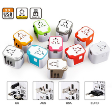 Top Quality Portable Pantone Color 4 USB Type C Electrical Travel Adaptor with UK US AU EU Plug Converter for Gift