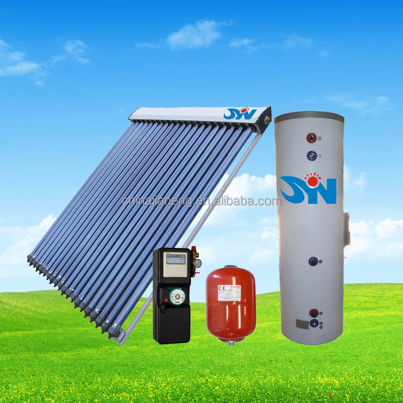100L-1000L 2016 Hot sale double copper coil solar water heater system,home soalr water heater