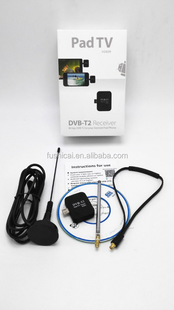 android phone tv out/android digital tv stick with usb DVB-T/ DVB-T2 tuner for mobile phone and tablet with OTG function