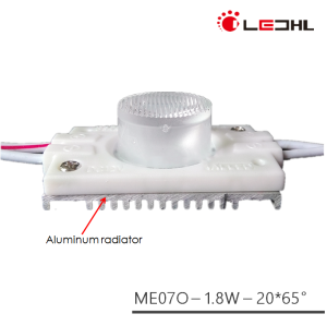 High Lumen New Type lighting box 1.8W DC12V injection LED Module with outside heatsink