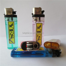 Colorful Disposable Cigarette Flint Gas Lighters With Sticker