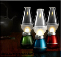 Retro Blowing Control Blow LED Lamp USB Powered Kerosene Nostalgia Oil Lamp Design