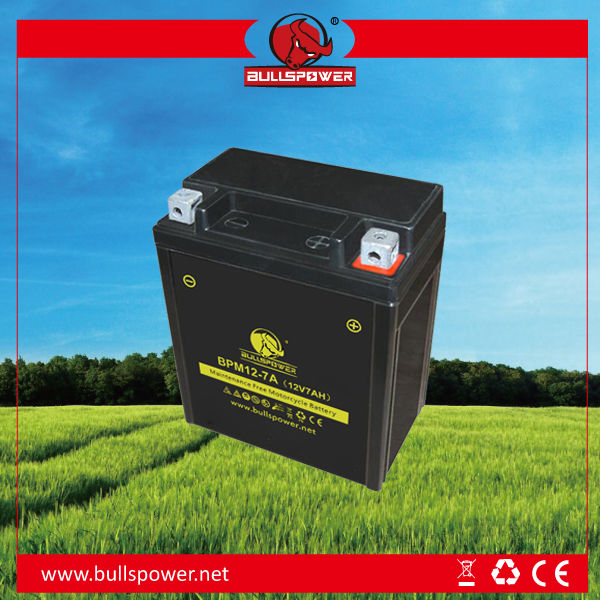 battery 12v 14ah small battery powered motor motorcycle battery 12v 7ah BPM12-7
