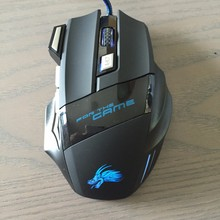 Fancy Dragon Pattern Wired USB Drivers 7D Gaming Mouse