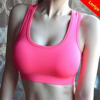 Popular hot sale sexy model heated women'sport bra