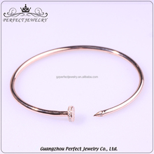 2016 Wholesale Price Hottest Fashion Design Custom Women Charm 925 Silver Bangle Jewelry